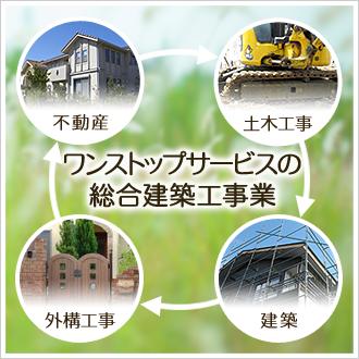 ワンストップサービスの総合建築工事業